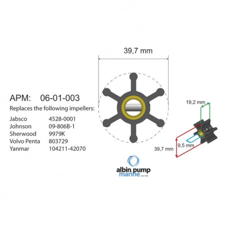 06-01-003 - Albin-Pump Impeller für F35