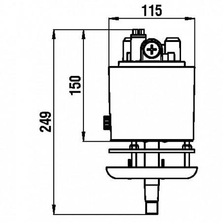 """TI02 Hydraulische Steuerpumpe, 39cc, \""""retro\"""""""
