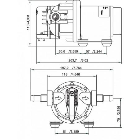 10-13405-03 - SPX / Johnson WPS 2.9, 12 Volt, 2.8 bar, 11 l/min
