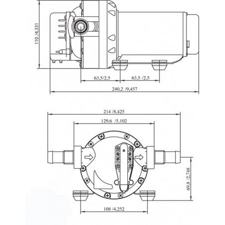 10-13406-04 - SPX / Johnson WPS4.0, Aqua Jet ,15 l/min, 2.8bar, 24V