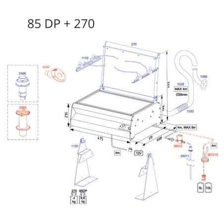 Dieselkocher 85DP, Ceramic,  Aufbaumodel