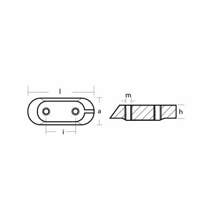 01123-1MG - Magnesium Anode Platte, Yamaha FB (→MJE1)