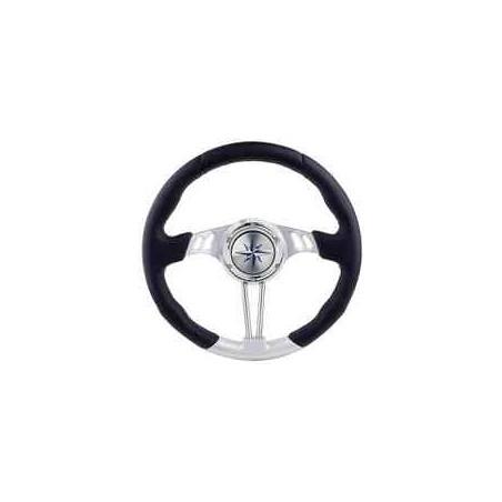 62.00718.02 - VL04 Steuerrad, 3 Speichen schwarz / silber, D: 350mm