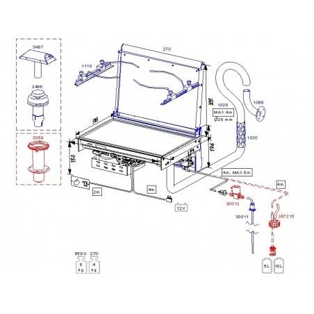 85NDT - Ceramic Dieselkocher 85 Dt Nautic mit Gebläseheizdeckel 270, Einbaumodell